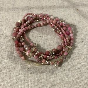 Kendra Scott Beaded Bracelet Pink Rhodonite
